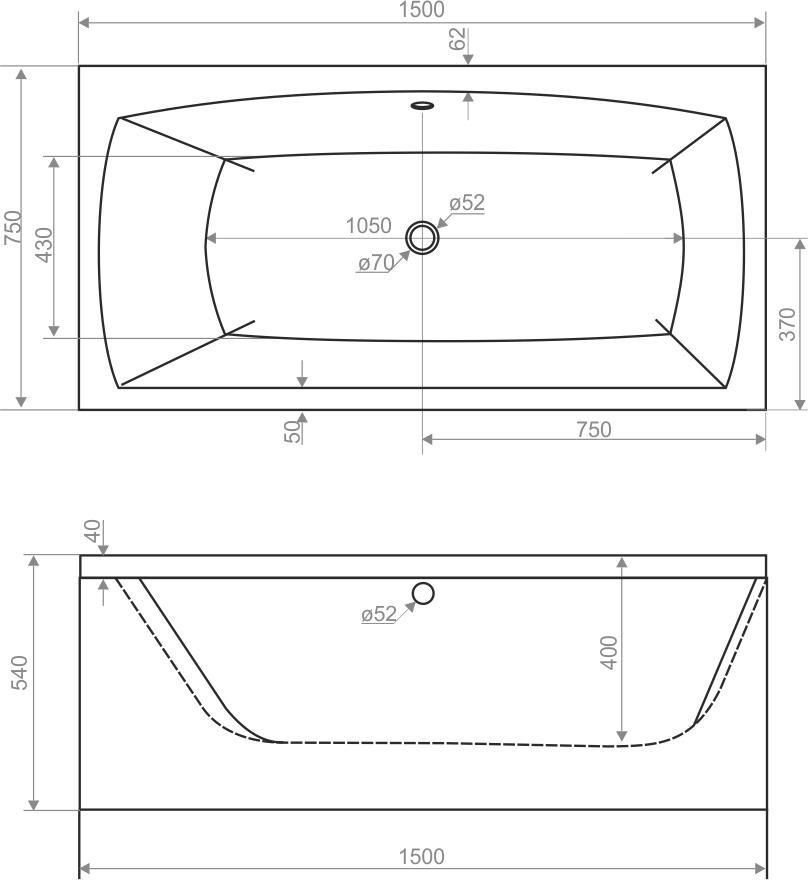 e1d9e6a067c0 Акриловая ванна Domani-Spa Clarity купить в Минске - цены, фото ...