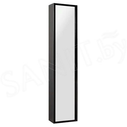 Пенал Акватон Римини Черный 35 зеркальный фасад
